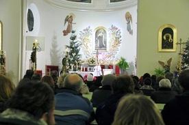 Kościół św. Teresy w Chwałowicach w czasie wykładu o gender